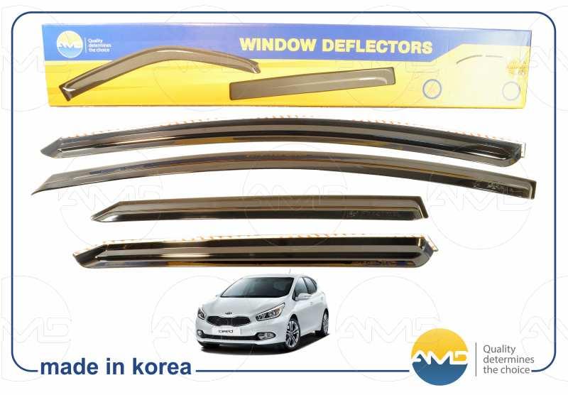 дефлекторы на двери автомобиля киа сид